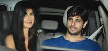 Sidharth Malhotra and Katrina Kaif snapped post dinner at Nitya Mehra's house Juhu, Mumbai