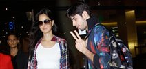 Sidharth and Katrina arrive back from USA