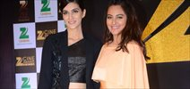 Sonakshi Sinha & Kriti Sanon At The Announcement of 'Zee Cine Awards 2016'