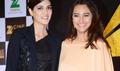 Sonakshi Sinha & Kriti Sanon At The Announcement of 'Zee Cine Awards 2016'