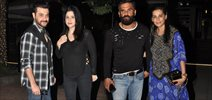 Suniel Shetty & Sanjay Kapoor snapped post dinner in Bandra