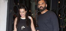 Suniel Shetty and family snapped post dinner at The Korner House