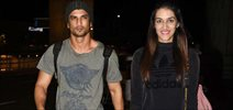 Sushant Singh Rajput & Kriti Sanon depart for Mauritius