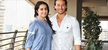 Tiger and Shraddha at Baaghi promotions