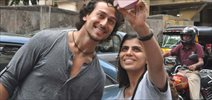 Tiger Shroff snapped in Bandra suburbs