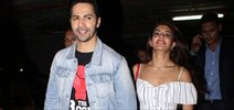 Varun Dhawan and Jacqueline Fernandez snapped at the airport