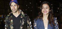 Varun Dhawan and Alia Bhatt arrive in Mumbai from USA