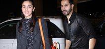 Varun and Alia depart for Badrinath Ki Dulhania shoot in singapore
