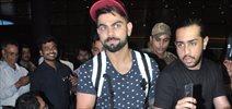 Virat Kohli snapped at airport arriving from Delhi