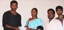 Vishal Help's 10 poor Student's by Paying College Fees For them