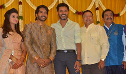 Actor Pandu Son Pintu Wedding Reception - Pictures