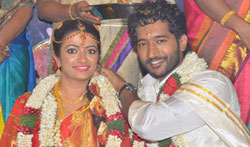 Actor Pandu Son Pintu Wedding - Pictures
