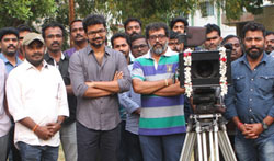 Bairavaa Shoot Last Day in Sets - Pictures