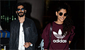 Harshvardhan and Saiyami snapped arriving back from London premiere of Mirzya