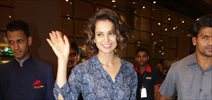Kangna Ranaut arrives in Mumbai after receiving the National Award in Delhi