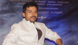 Karthi at Kochi for Kaashmora Promotions - Pictures