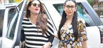 Kareena, Karishma and Rhea Kapoor snapped post lunch at Hakassan