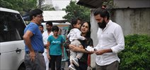 Riteish, Genelia snapped with their son at Joggers Park