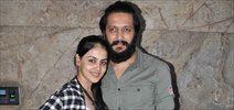 Ritesh Genelia and Family snapped at Banjo screening