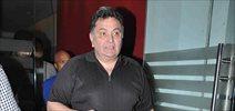 Rishi Kapoor and Lyricist Sameer snapped post dinner