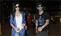 Sushant Singh Rajput & Kriti Sanon snapped returning after shooting for 'Raabta' in the Maldives