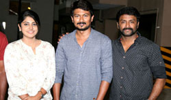 Udhaynidhi Stalin Celebrated his Birthday at the Sets Lyca Productions - Pictures