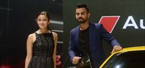Virat Kohli & Alia Bhatt unveil the new Audi at Auto Expo 2016