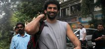 Aditya Roy Kapoor snapped in Bandra out for a stroll