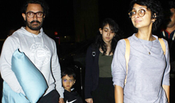 Aamir Khan departs with his family for holidays abroad - Pictures