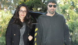 Aditya Roy Kapur and Shraddha Kapoor depart to promote Ok Jaanu in Chandigarh - Pictures