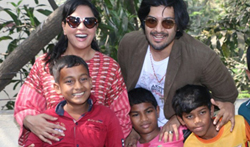 Ali Fazal and RIcha Chadda visit special kids at Dhai Akshar foundation - Pictures