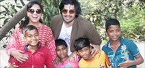 Ali Fazal and RIcha Chadda visit special kids at Dhai Akshar foundation