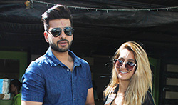 Anusha Dandekar and Karan Kundra at Bombay Salad - Pictures