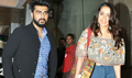 Arjun Kapoor and Shraddha Kapoor snapped promoting their film 'Half Girlfriend'