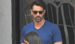 Arjun Rampal snapped with his daughter post lunch at The Korner House - Pictures