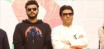 Arjun Kapoor and Raj Thackeray at Lokhandwala marathon