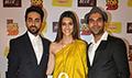 Ayushmann Khurrana, Kriti Sanon & Rajkummar Rao promote Bareilly Ki Barfi at Radio Mirchi