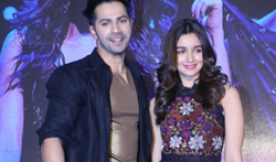 Varun and Alia Bhatt at the launch of Tamma Tamma song from Badrinath kI Dulhania movie - Pictures