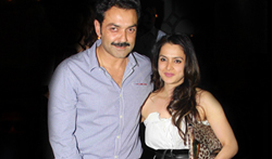 Bobby Deol and Tanya Deol snapped at the Korner House, Bandra - Pictures