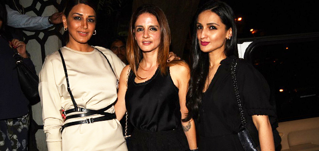 Sussanne khan sonali bendre and anu diwan snapped post for Diwan name wallpaper