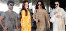 Kriti Sanon, Sushant Singh Rajput, Rekha, Parineeti Chopra & Sridevi snapped at the airport