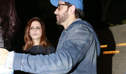 Hrithik, Sussanne and Zayed snapped post dinner at friend's pad in juhu - Pictures