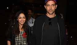 Hrithik Roshan & Yami Gautam return from 'Kaabil' promotions in Dubai - Pictures