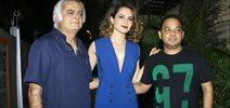 Kangna Ranaut and Hansal Mehta at their film Simran's wrap up bash