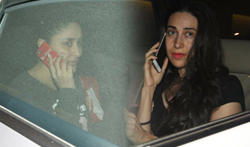 Kareena Kapoor and Karisma Kapoor snapped with Taimur baby - Pictures