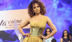Kangna Ranaut walks the ramp at the launch of brand Liva Creme - Pictures