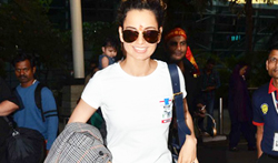 Kangana Ranaut snapped at the aiport - Pictures