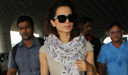 Kangna Ranaut snapped at the aiport - Pictures