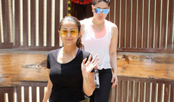 Kareena Kapoor Khan and Amrita Arora snapped post Yoga session in Bandra - Pictures