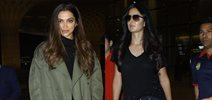 Katrina Kaif and Deepika Padukone snapped at the Airport